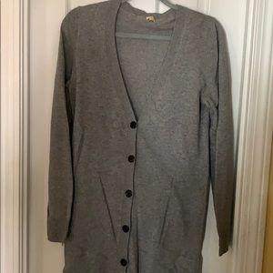 Long Jcrew button up sweater